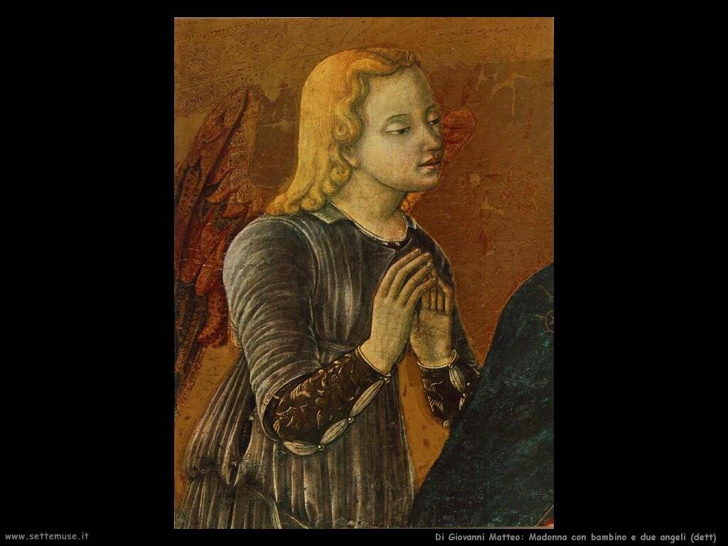 di giovanni matteo Madonna con bambino e due angeli (dett)