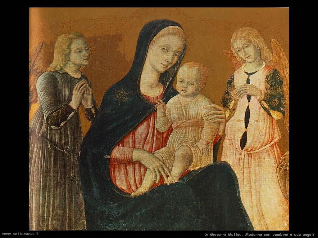 di giovanni matteo Madonna con bambino e due angeli