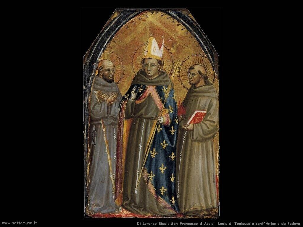 di lorenzo bicci Santi Francesco di Assisi, Louis di Toulouse e Antonio di Padova