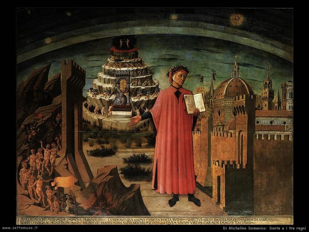di michelino domenico Dante e i tre regni