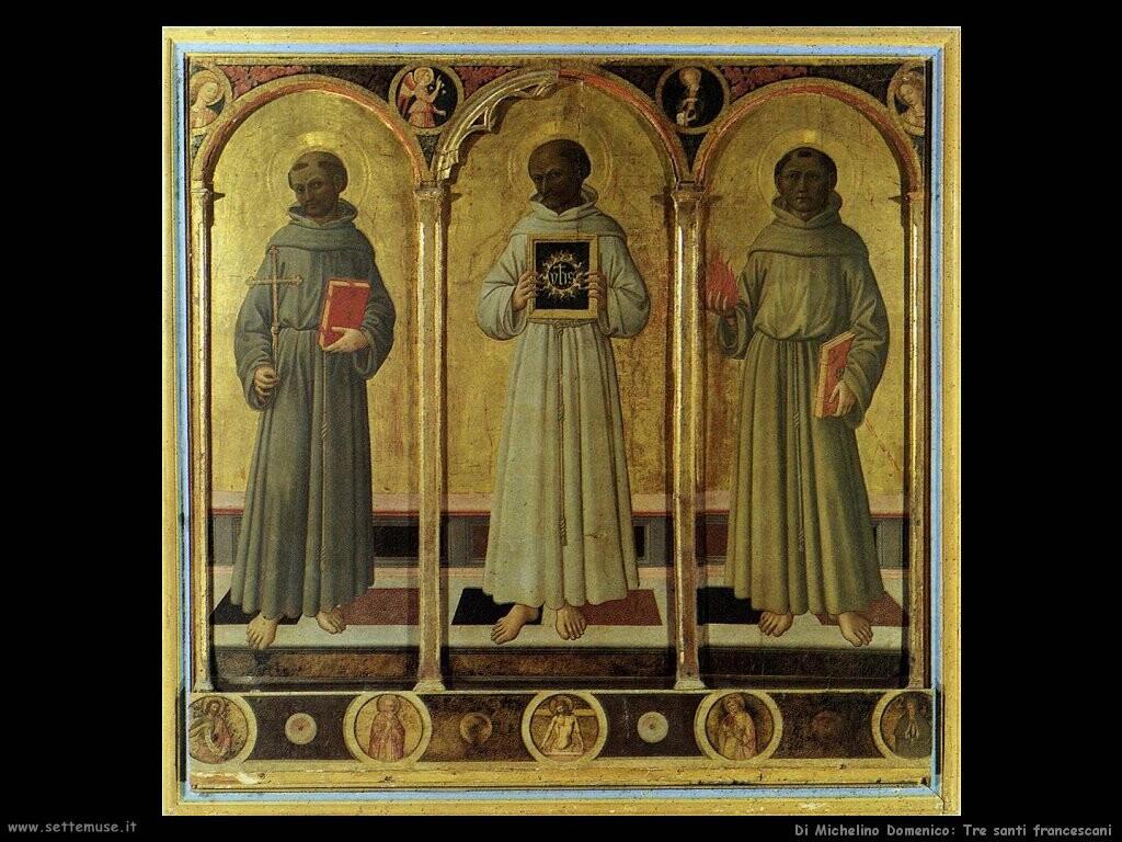 di michelino domenico  Tre santi francescani