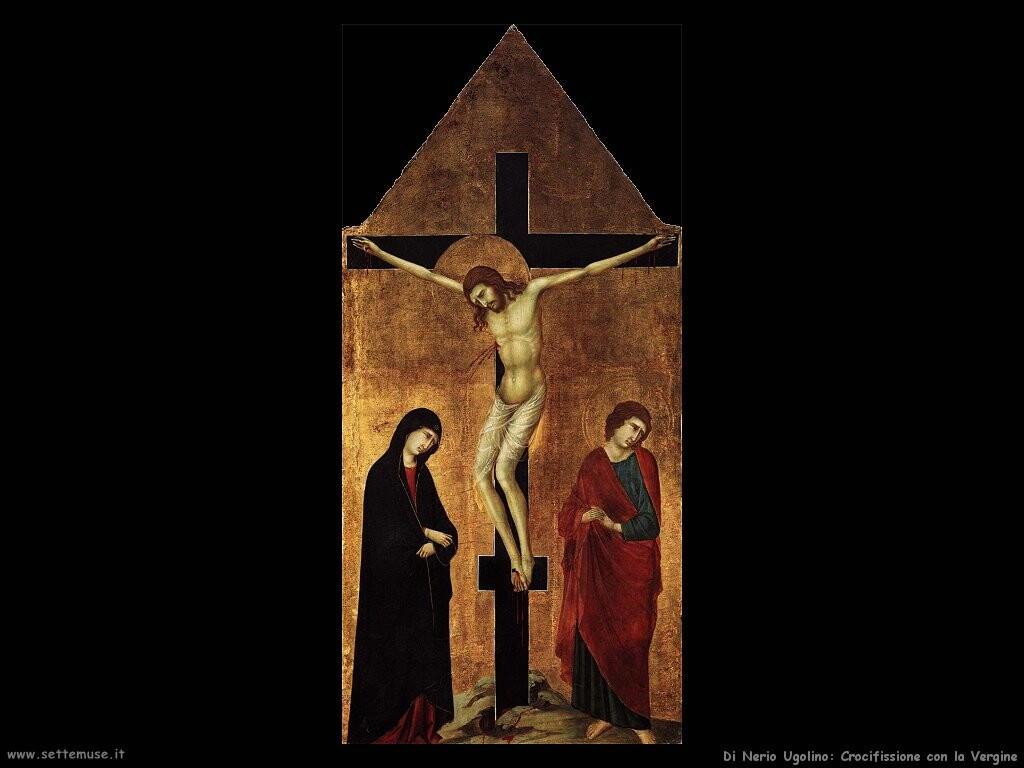 di nerio ugolino Crocifissione con la Vergine