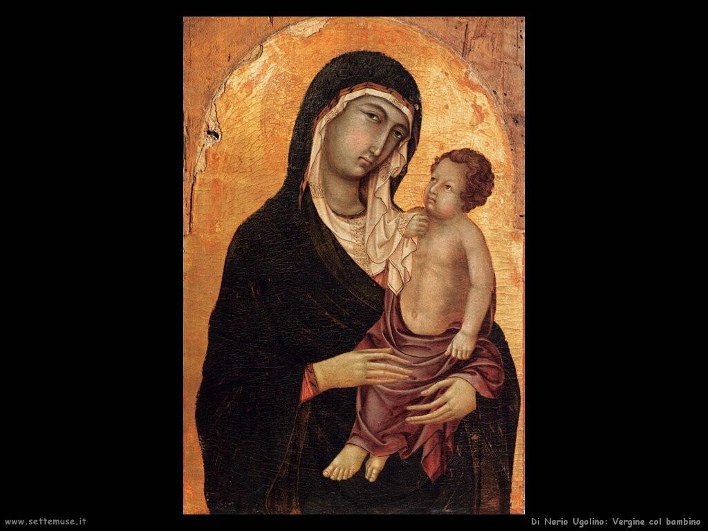 di nerio ugolino  Vergine e bambino