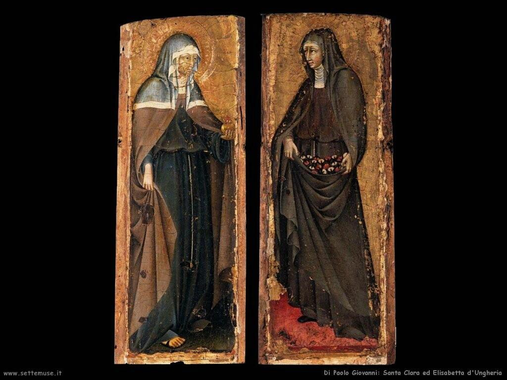 di paolo giovanni Santa Clara e santa Elisabetta d'Ungheria