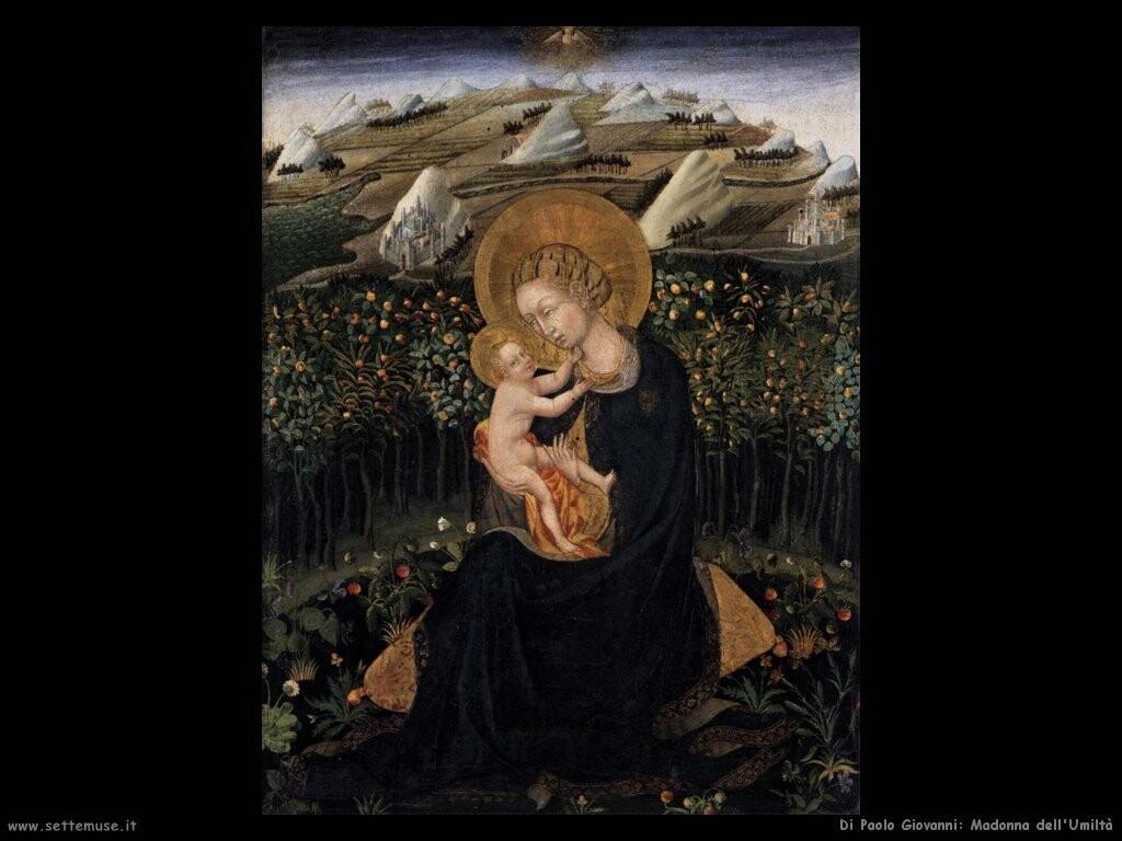 di paolo giovanni Madonna dell'umiltà