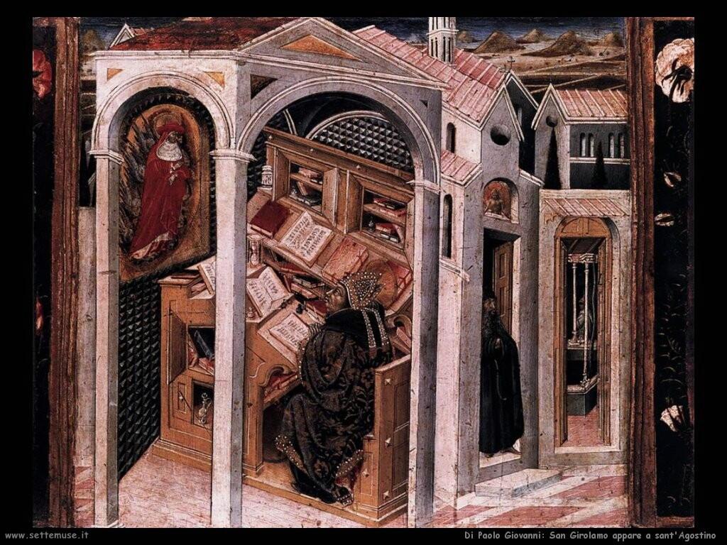 di paolo giovanni San Girolamo appare a sant'Agostino