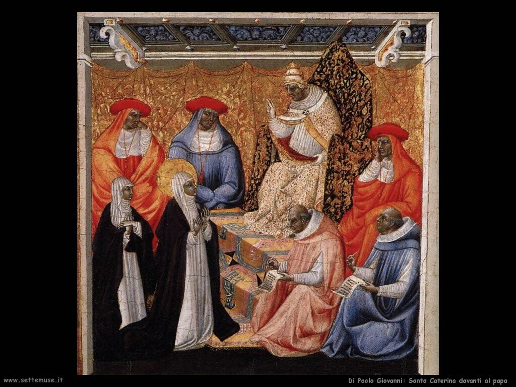 di paolo giovanni Santa Caterina davanti al papa