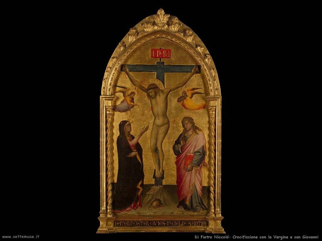 di pietro niccolo  Crocifissione con la Vergine san Giovanni