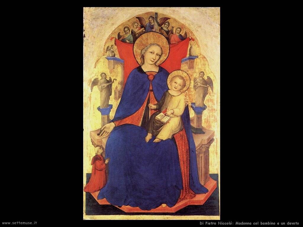 di pietro niccolo  Madonna con bambino e un devoto