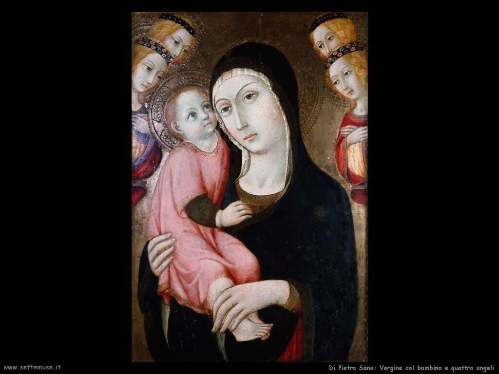 di pietro sano Vergine con bambino e quattro santi