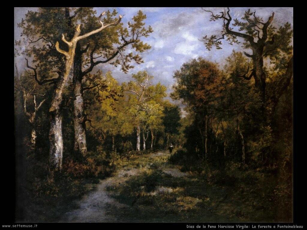 diaz de la pena narcisse virgile La foresta a Fontainebleau