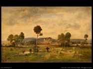 diaz de la pena narcisse virgile  Paesaggio con un pino