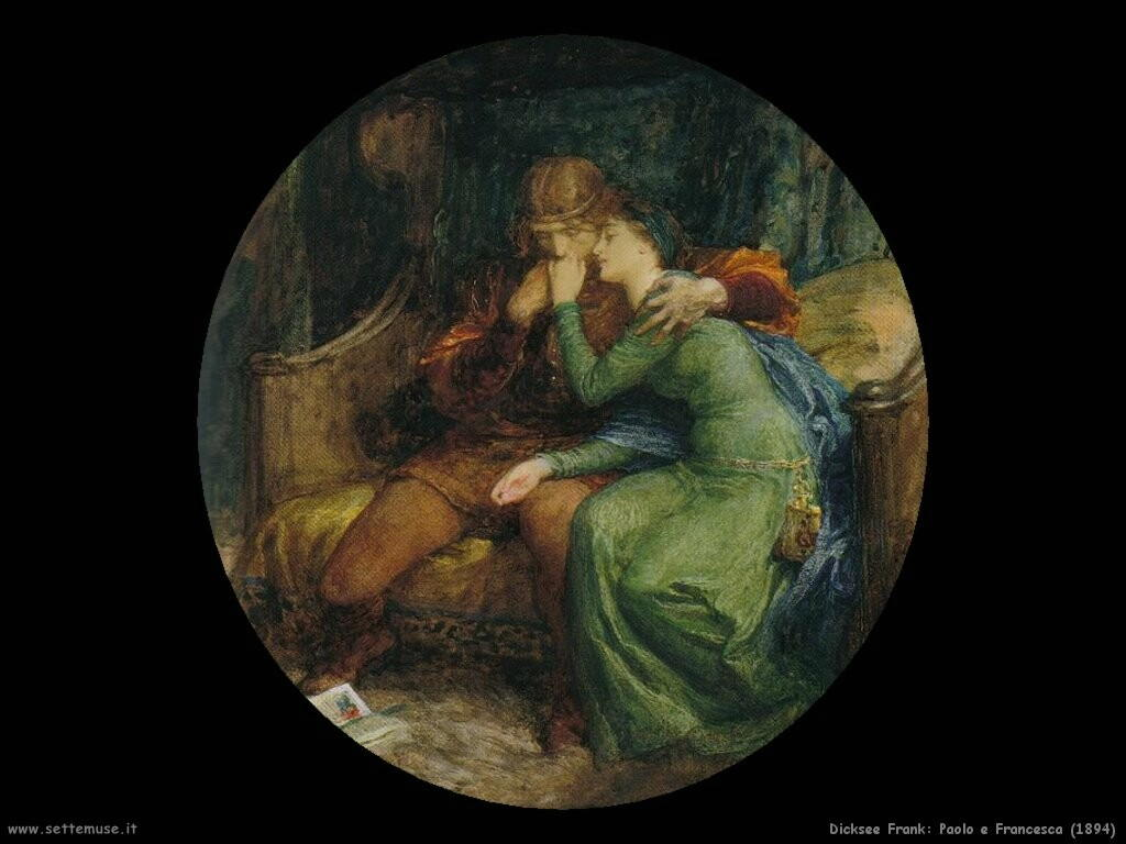 frank dicksee Paolo e Francesca (1894)