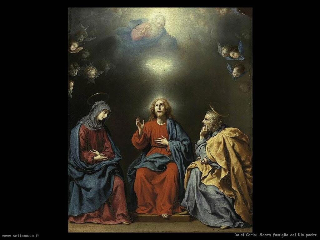 dolci carlo La sacra famiglia con Dio padre