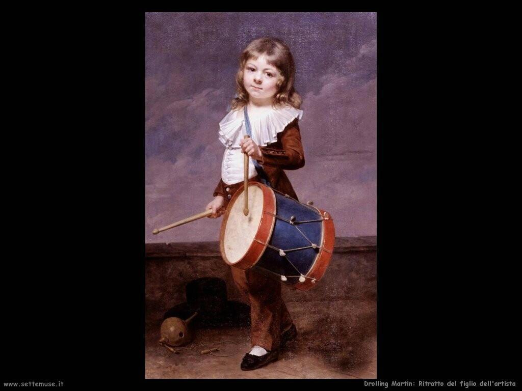 drolling martin Ritratto del figlio dell'artista