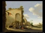 droochsloot joost cornelisz Strada di un villaggio