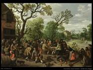 droochsloot joost cornelisz Scena di un villaggio