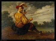 droochsloot joost cornelisz  Autoritratto in un paesaggio