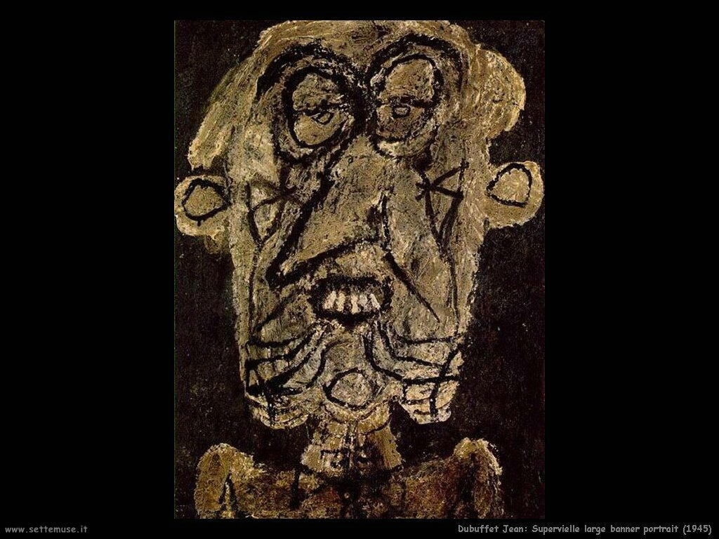 dubuffet_jean Supervielle large banner portrait (1945)