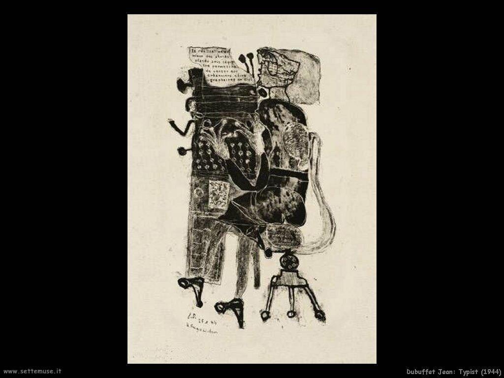 dubuffet_jean Typist (1944)