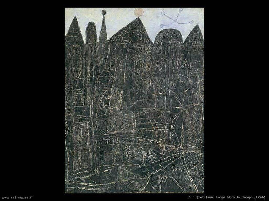 dubuffet_jean Ampio paesaggio nero (1946)