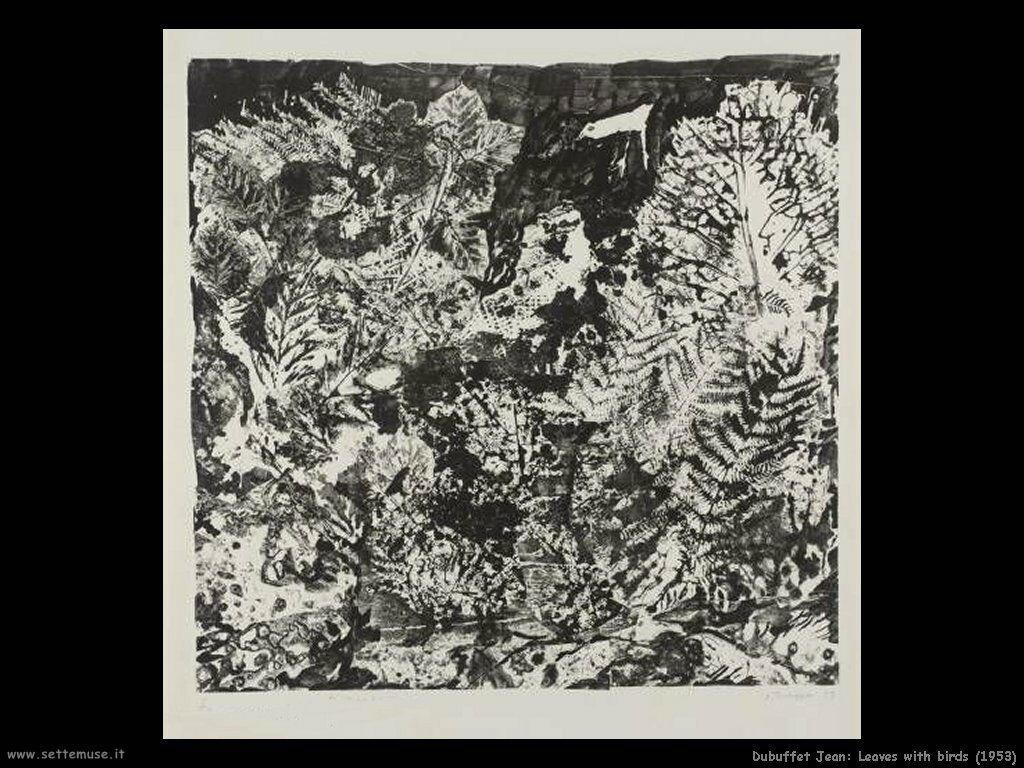 dubuffet_jean Foglie con uccello (1953)