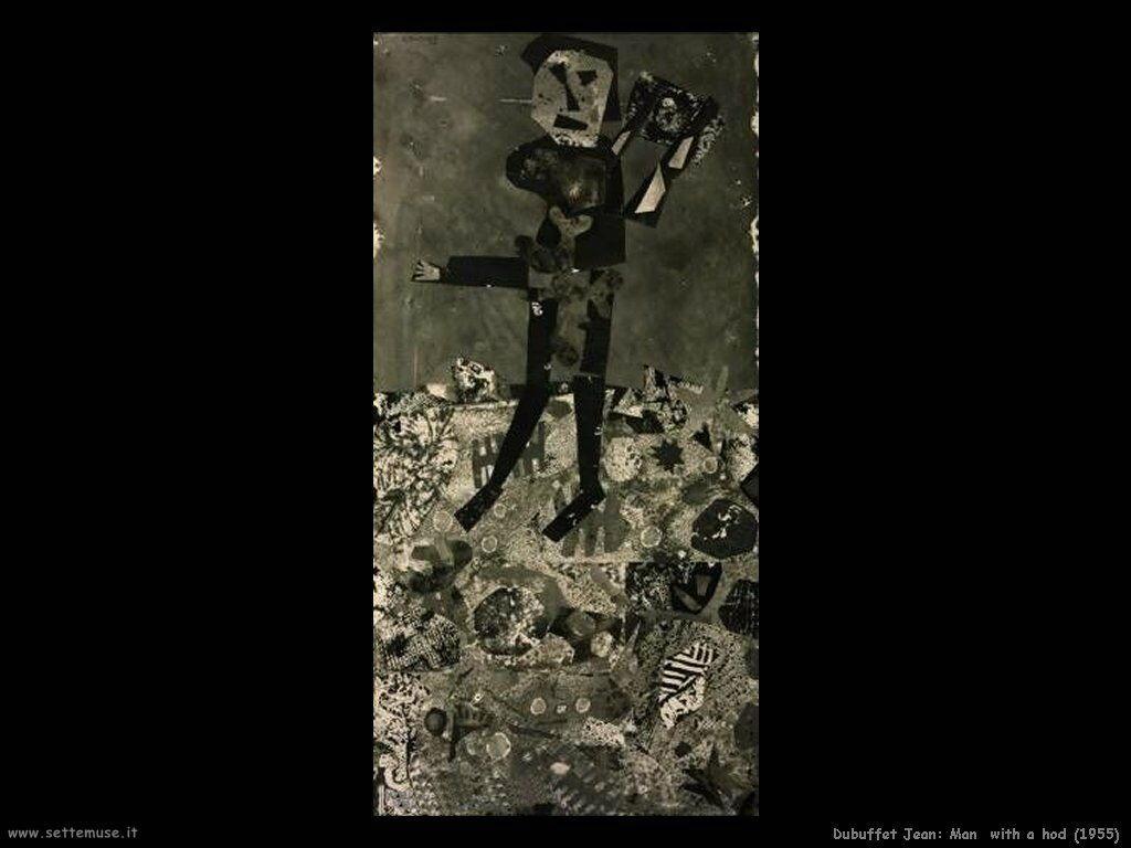 dubuffet_jean Uomo con sparviero (1955)