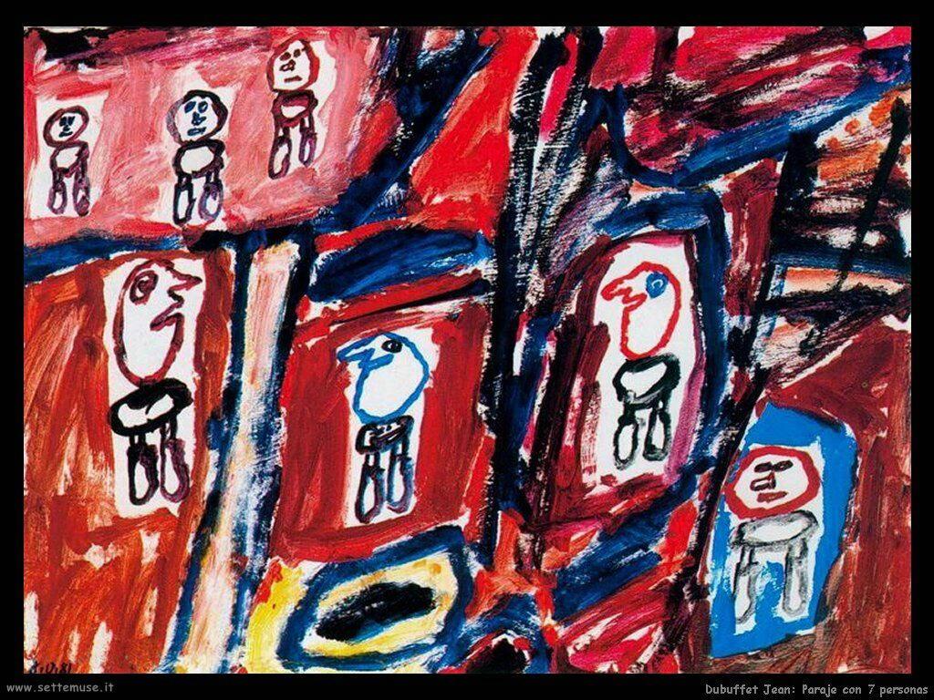dubuffet_jean Posto con sette persone