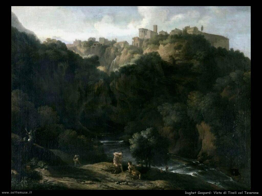 dughet gaspard Vista di Tivoli con il Teverone