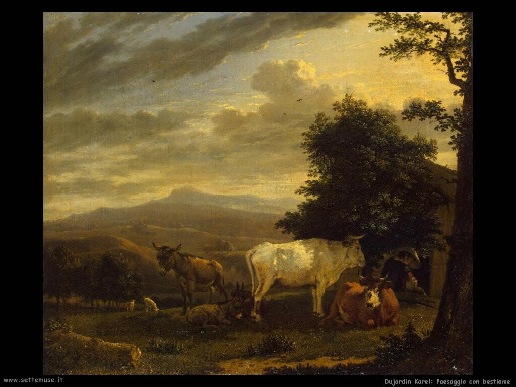 dujardin karel Paesaggio con bestiame