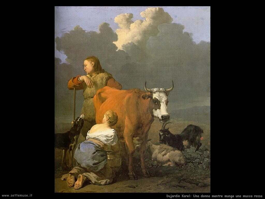 dujardin karel Una donna che munge una mucca