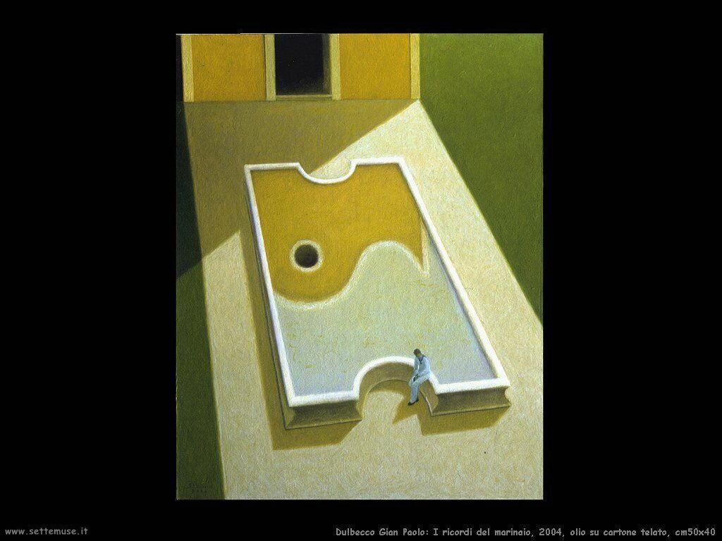 I ricordi del marinaio, 2004, olio su cartone telato, cm50x40