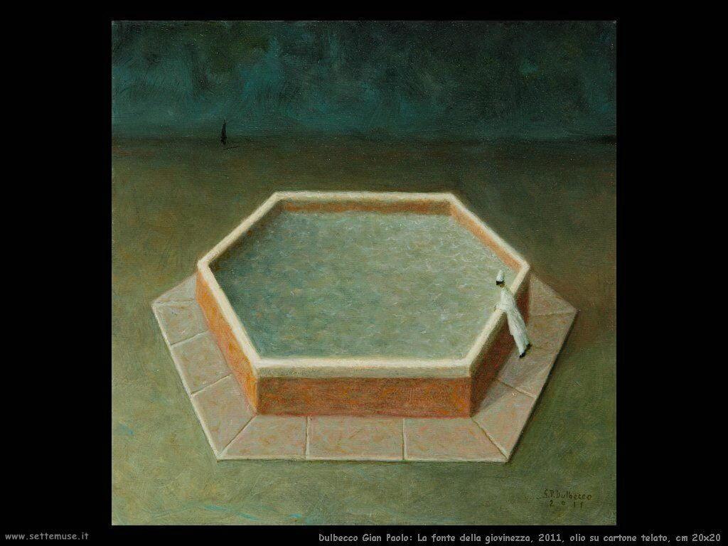 La fonte della giovinezza, 2011, olio su cartone telato, cm 20x20