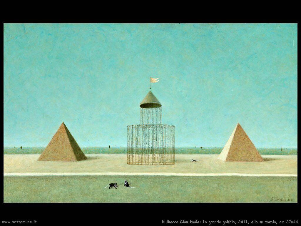 La grande gabbia, 2011, olio su tavola, cm 27x44