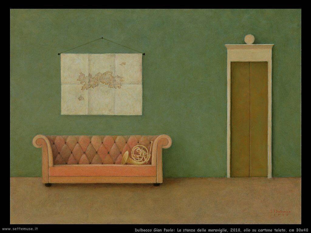 La stanza delle meraviglie, 2010, olio su cartone telato, cm 30x40