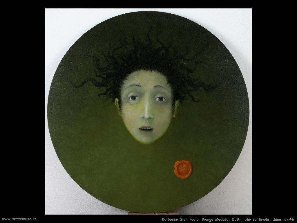 Piange Medusa, 2007, olio su tavola, diam. cm46