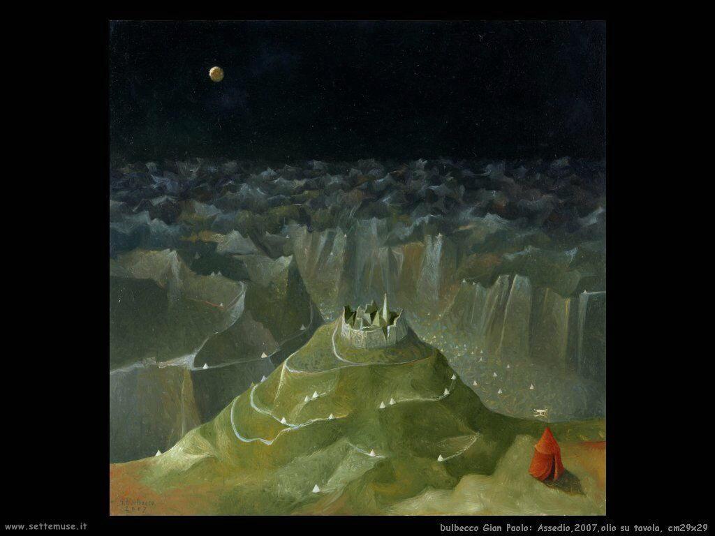 Assedio,2007,olio su tavola, cm29x29