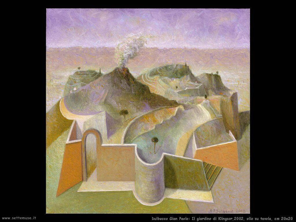 Il giardino di Klingsor,2002, olio su tavola, cm 20x20
