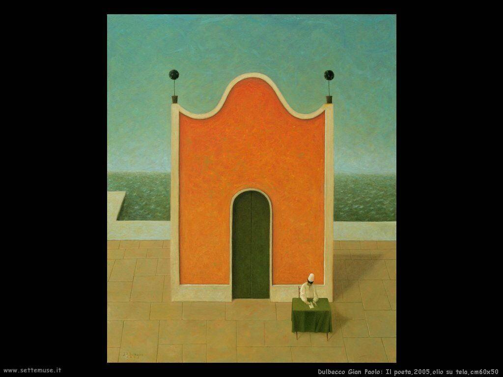 Il poeta,2005,olio su tela,cm60x50