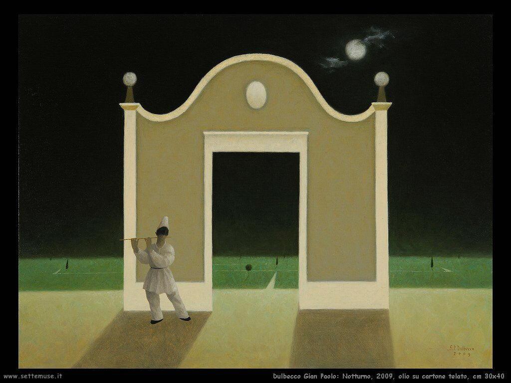 Notturno, 2009, olio su cartone telato, cm 30x40