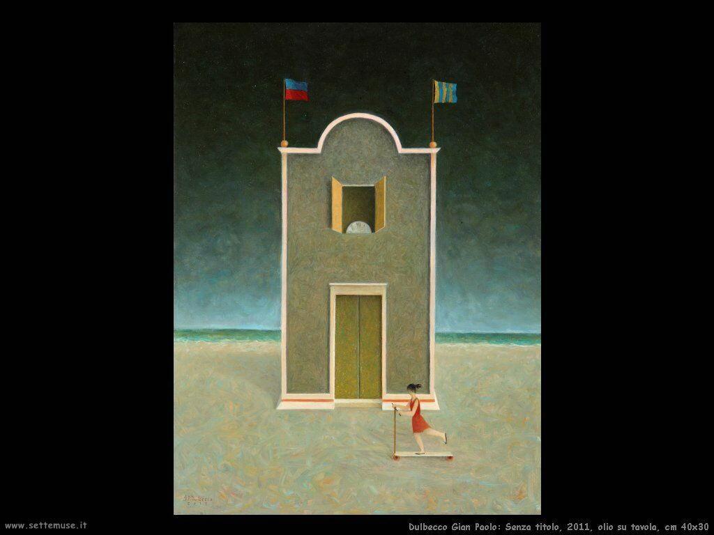 Senza titolo, 2011, olio su tavola, cm 40x30