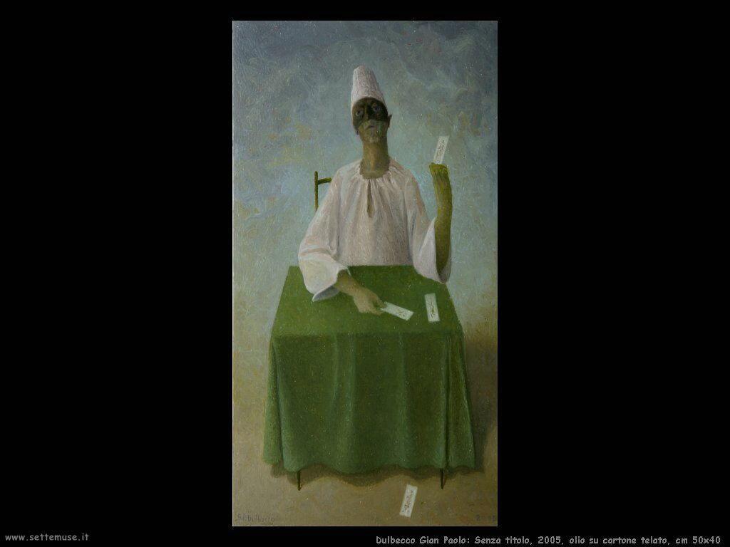 Senzatitolo, 2005, olio su tavola, cm 25x13