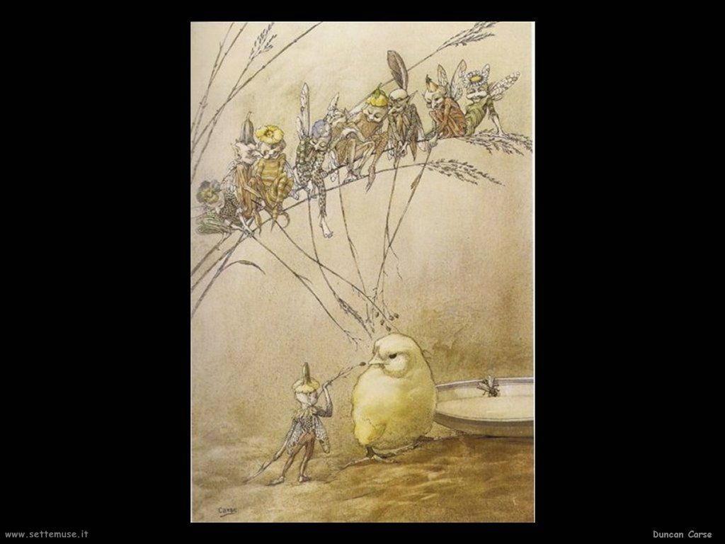 Duncan Carse illustrazioni di fate