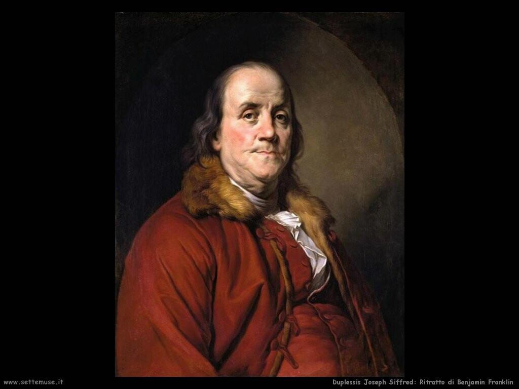 duplessis joseph siffred Ritratto di Benjamin Franklin