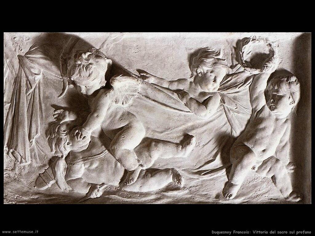 duquesnoy francois Vittoria del sacro sull'amore profano