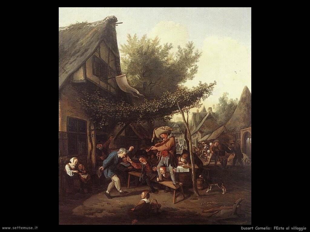 dusart cornelis Festa al villaggio