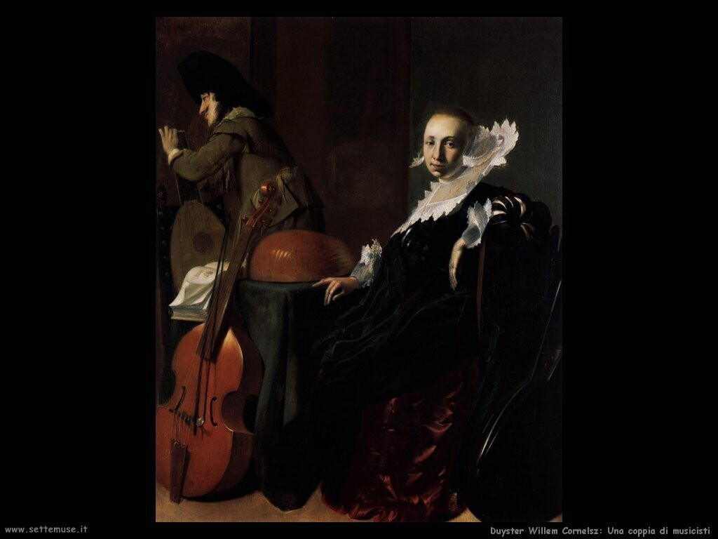 duyster willem cornelisz  Coppia di musicisti