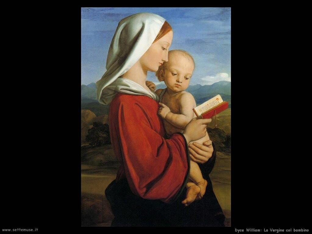 dyce william Vergine con bambino