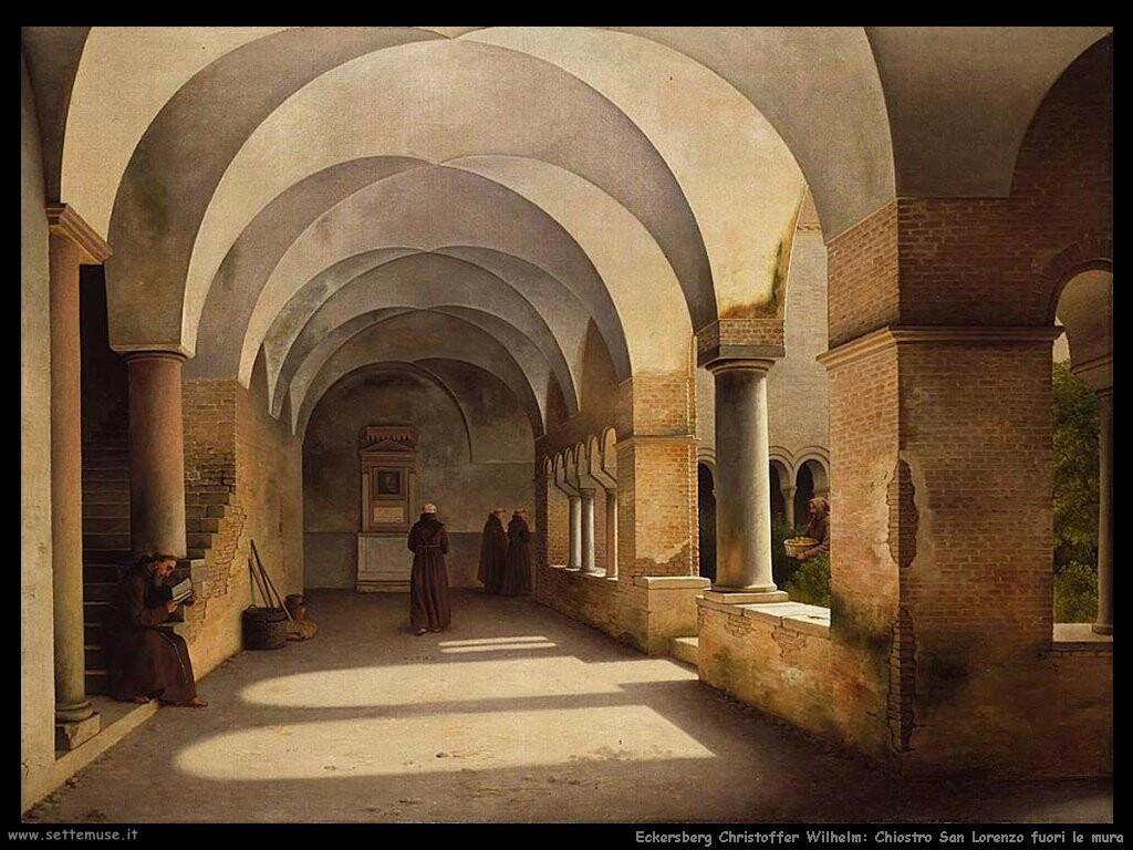 eckersberg christoffer wilhelm Il chiostro di san Lorenzo fuori le mura