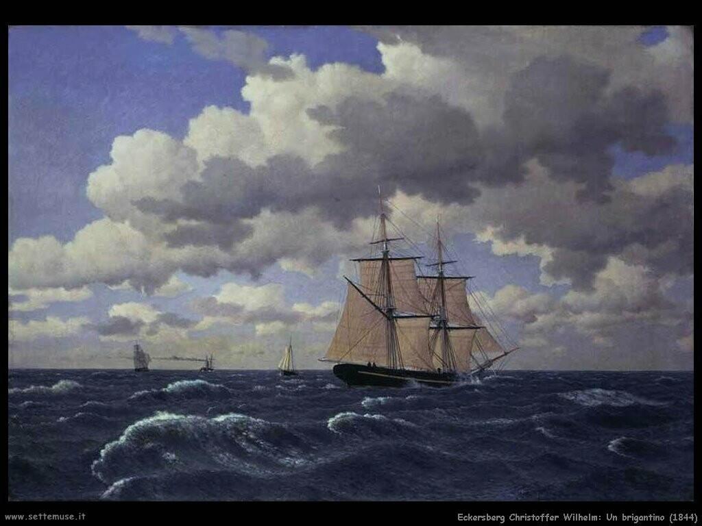 eckersberg christoffer wilhelm Un brigantino (1844)